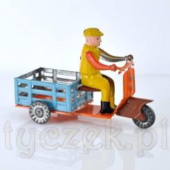 Kolekcjoenrska blaszana zabawka - motorower