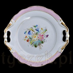Zabytkowa porcelanowa patera ręcznie malowana