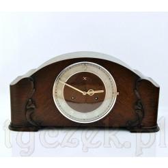 Luksusowy zegar kominkowy z okresu międzywojenneo