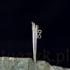 Zatyczka na ołówek wykonana ze srebra