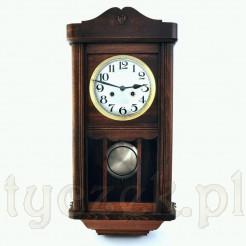 Ekskluzywny zegar naścienny w pięknej drewnianej skrzyni