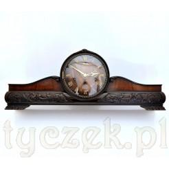 LINCO stylowy zegar w pięknej i odnowionej skrzyni