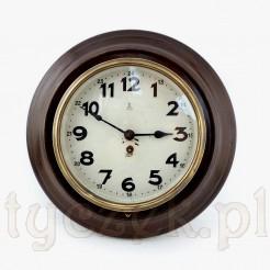 Wyjątkowy zegar GB okrągły w metalowej obudowie malowanej
