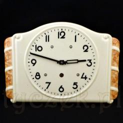 Gustowny zegar na ścianę z lat trzydziestych XX wieku
