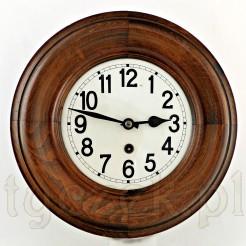 Pięknie zachowany, odnowiony zegar drewniany gotowy do zawieszenia
