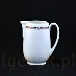 Mlecznik Bavaria z uszkiem i wylewką wykonany z porcelany w kolorze ecru