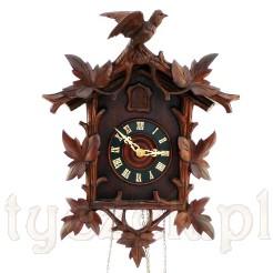 Okazała kukułka z końca XIX wieku- zabytkowy zegar wiszący