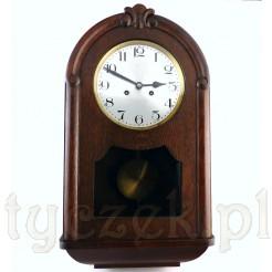 Elegancki i zabytkowy zegar ścienny - w pełni sprawny okaz