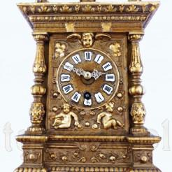 Reprezentacyjny zegar z połowy XIX wieku z markowym werkiem GB