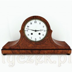Dostojny zegar kominkowy słynnej marki LENZKIRCH ok 1920 rok