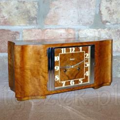 Elegancki i dostojny zegar kominkowy z epoki Art Deco