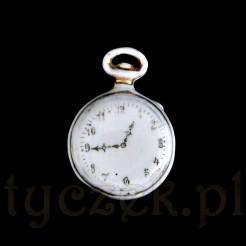 zegarek kieszonkowy stara porcelanka