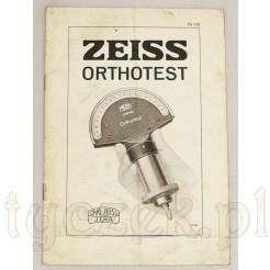 Zabytkowa instrukcja Carl Zeiss Jena Orthotest