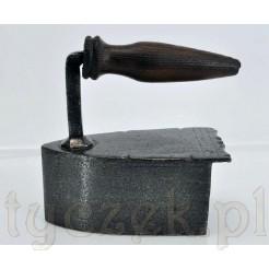 żelazko z XIX wieku ręczenie wykonane - kuty metal