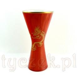 Porcelanowy wazon ze smokiem