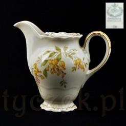 Markowy mlecznik Sorau z kolekcji EDITH porcelana ecru w kwiaty