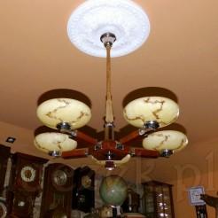 Luksusowe oświetlenie pięciopunktowe z epoki ArtDeco