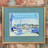 Żaglówki w porcie – barwna marina malowana akwarelą, Owens, XX wiek