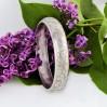Elegancka bransoleta koło – ręcznie grawerowane, puncowane srebro próby 800