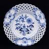 Ażurowy talerz ozdobny wzór cebulowy MEISSEN Zwiebelmuster