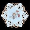 Porcelanowa patera zdobiona złoconym ażurem – doskonała porcelana marki Carl Tielsch Alt Wasser