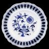 Ciekawy talerz cebulowy z małej wytwórni Ernst Teichert Meissen przełom XIX /XX wiek