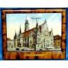 Stary, perłowy obrazek BRESLAU - wrocławski Ratusz w ramce