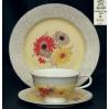 Rosenthal DORIT - kolorowe chryzantemy. Zestaw śniadaniowy ok 1930 rok
