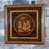 Herkules na rozstajach – intarsjowany obraz drewniany, XX w.