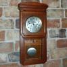 Art Nouveau drewniany zegar wiszący JUNGHANS w stylu wiedeńskiej secesji