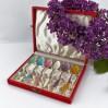 Luksusowy komplet sześciu filigranowych łyżeczek Demitasse – ręcznie emaliowane srebro próby 925, Frigast Sterling Denmark