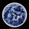 1980 Kot w butach - Baśniowy talerz biało-niebieski marki Meissen
