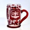 Olbrzymi, szklany, rubinowy kufel! 1868 rok