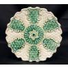 ROKOKO pięknie zdobiony talerz ! Stara Majolika Saksonia