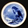 Myszołów królewski - słynny miśnieński kobalt na porcelanowym talerzu z 1985 roku