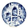 Miśnia 1974 rok - dekoracyjny baśniowy talerz z motywem Śpiącej Królewny
