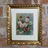 Pełen przepychu bukiet na bajkowym obrazie wykonanym techniką pasteli 1931 rok