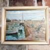Nastrojowy pejzaż marynistyczny – obraz olejny malowany na płótnie