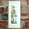 Stylowa grafika z włoskim widokiem - pełna uroku barwna litografia