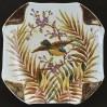 Ścienny talerz z ptakiem stara sygnowana Majolika z BONN