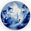Kobaltowy talerz dekoracyjny - Miśnia z motywem Pinokio
