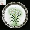 SECESJA z kwiatem piękna paterka z ażurową obręczą z grupy WMF