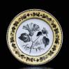 Fajansowy XIX-wieczny talerz z floralną dekoracją - powój