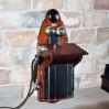 Duży duński telefon ścienny KTAS z przełomu XIX i XX wieku