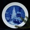 MEISSEN- talerz bożonarodzeniowy z choinką na świątecznym targu