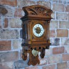 BECKER rzadki zegar wiszący z okresu SECESJA typ ślązak
