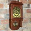Art Nouveau duży zegar wiszący HAU w pięknym stylu wiedeńskiej secesji
