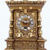 Becker unikatowy zegar gabinetowy z pozłoconego żeliwa