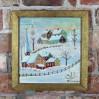 Zimowy pejzaż – olej na desce, Anna Binkuńska 1986 rok