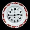 Art deco zegar GB z porcelanową tarczą KPM w smoki